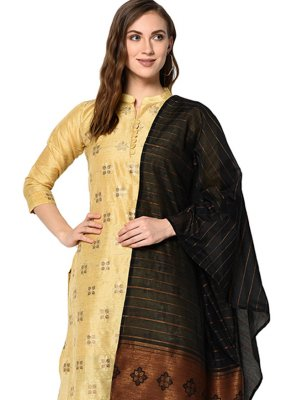 Cotton Abstract Print Beige Designer Pakistani Suit