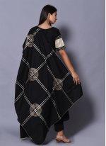 Cotton Black Block Print Readymade Salwar Kameez