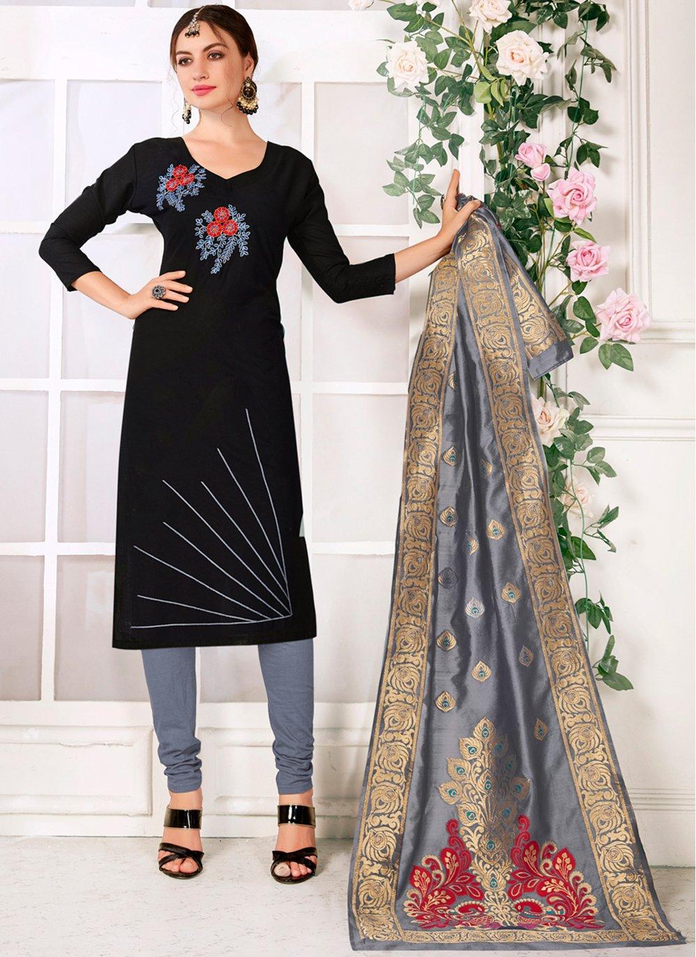 Cotton Black Designer Suit