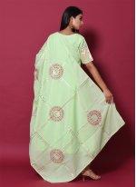 Cotton Block Print Sea Green Salwar Suit