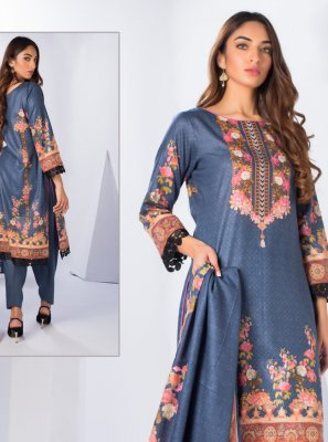 Cotton Blue Salwar Suit