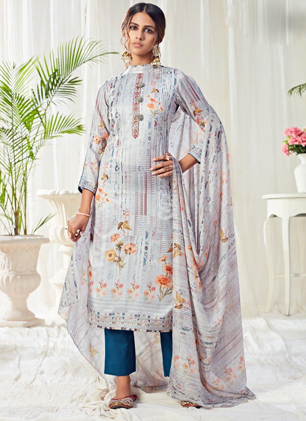 Cotton Bollywood Salwar Kameez in Multi Colour
