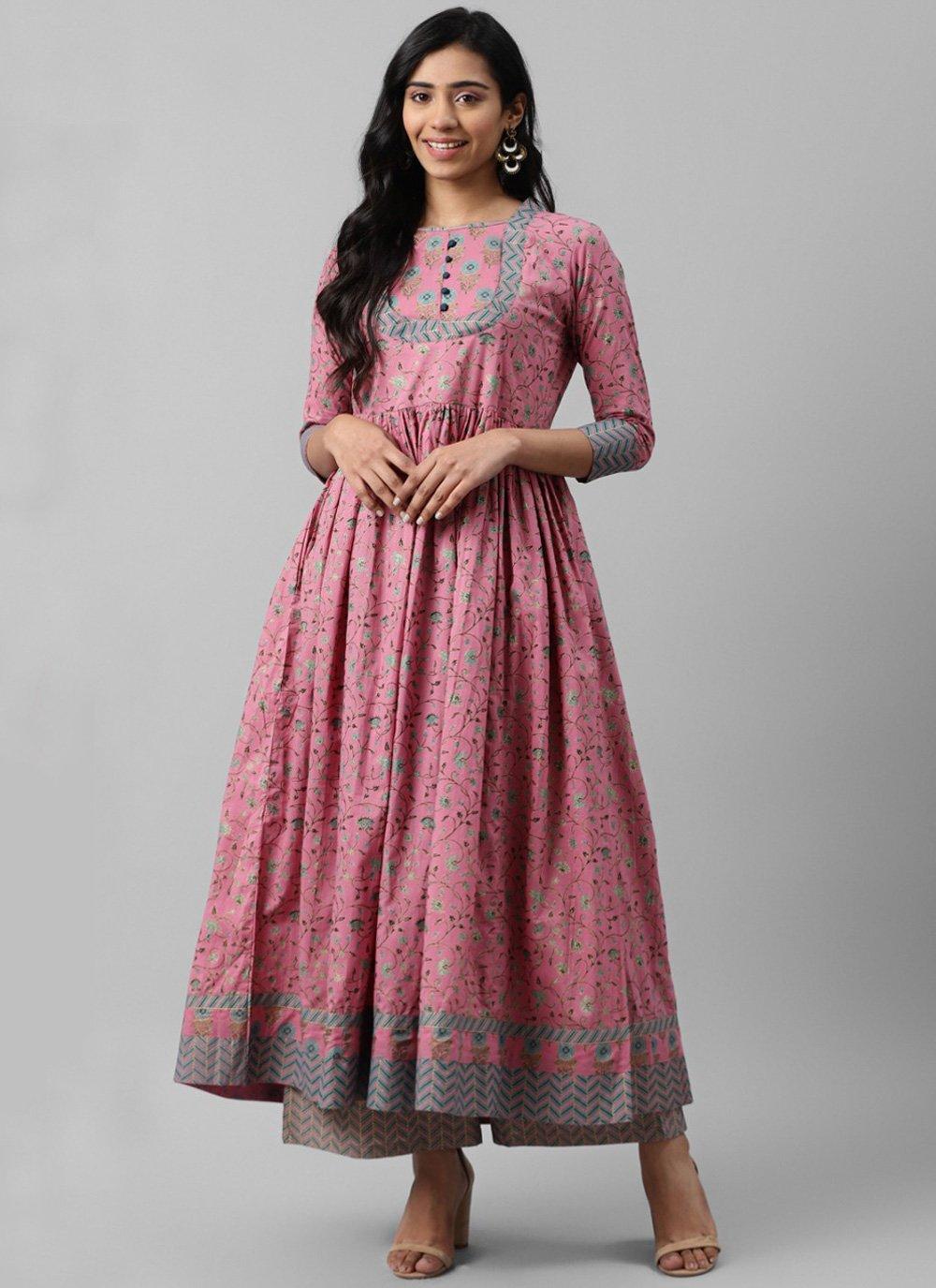 Cotton Bollywood Salwar Kameez in Pink