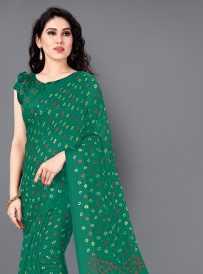 Cotton Casual Saree in Green