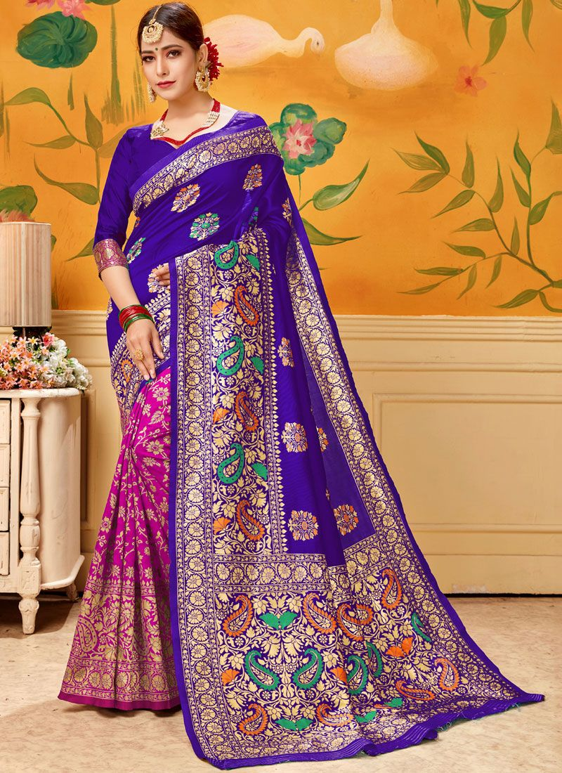 Cotton Casual Saree in Pink