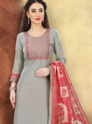 Cotton Ceremonial Churidar Designer Suit
