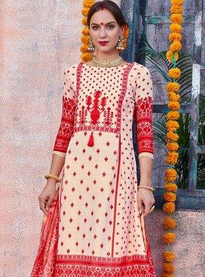 Cotton Ceremonial Designer Palazzo Salwar Suit