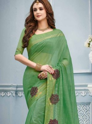 Cotton Classic Designer Saree in Green