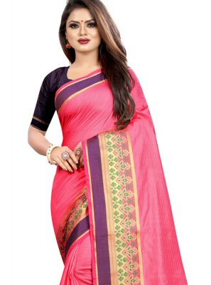 Cotton Classic Designer Saree in Pink