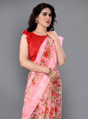 Cotton Classic Designer Saree in Pink