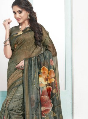 Cotton Designer Traditional Saree in Green