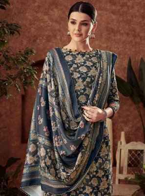 Cotton Diamond Navy Blue Trendy Salwar Kameez