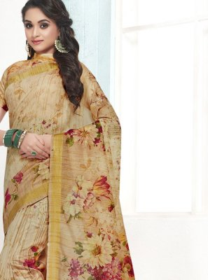 Cotton Digital Print Designer Traditional Saree