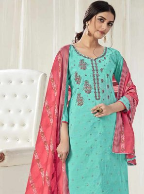 Cotton Embroidered Bollywood Salwar Kameez