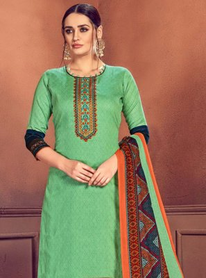 Cotton Embroidered Designer Palazzo Salwar Kameez