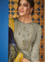 Cotton Embroidered Designer Salwar Kameez