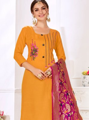 Cotton Embroidered Salwar Suit