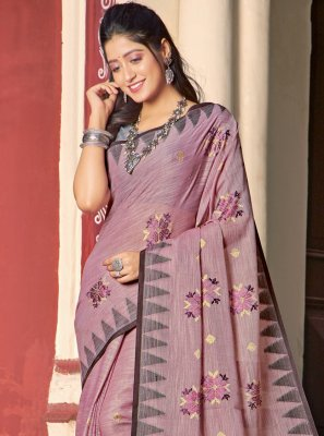 Cotton Embroidered Traditional Saree