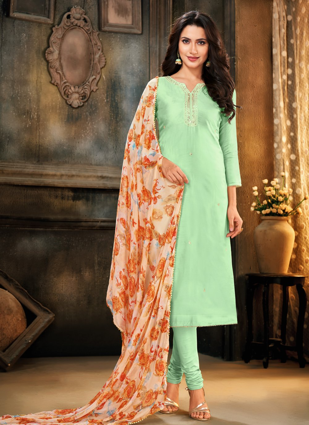 Cotton Festival Trendy Churidar Salwar Suit
