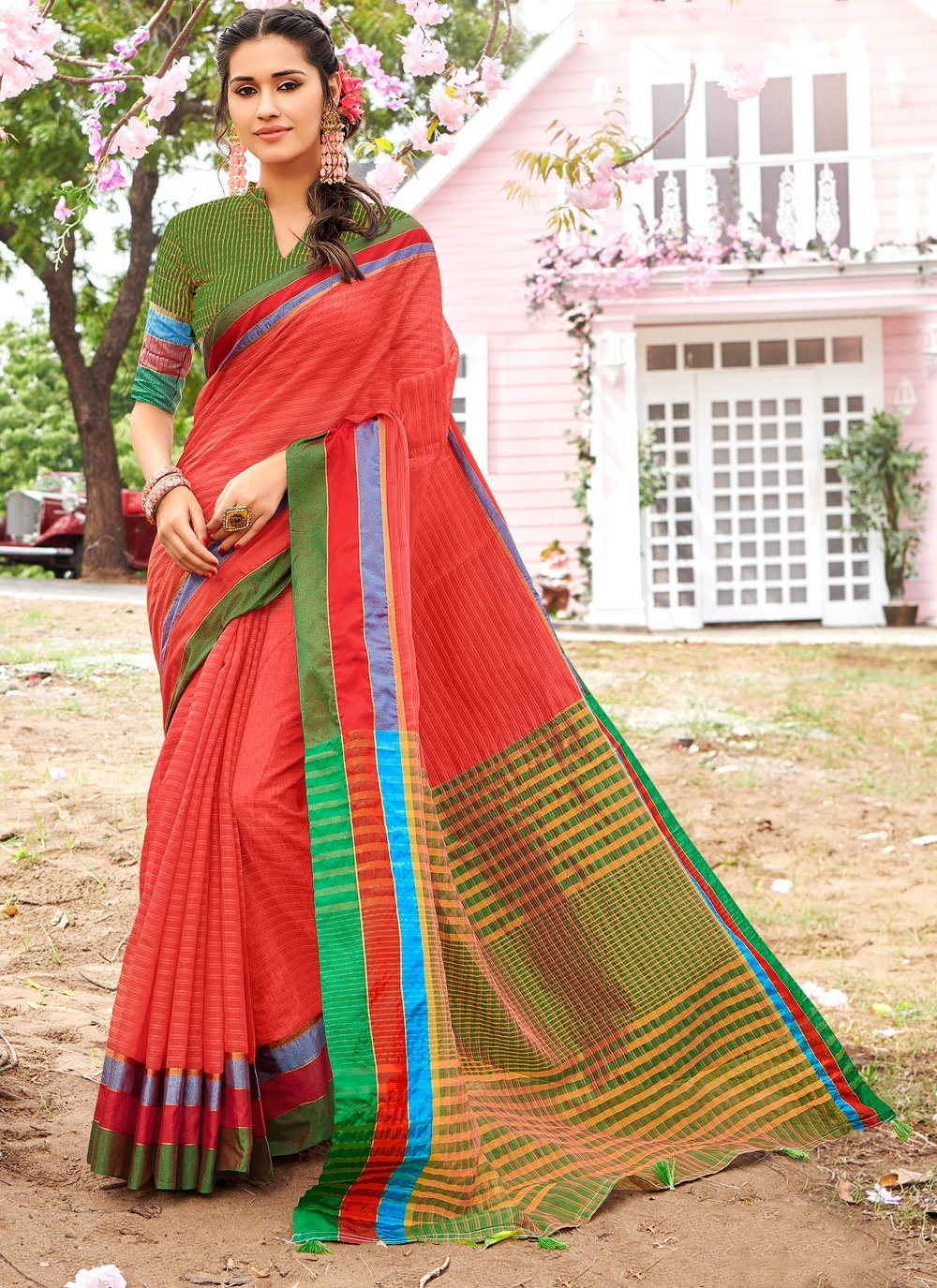 Cotton Festival Trendy Saree