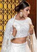 Cotton Foil Print White Trendy Designer Lehenga Choli