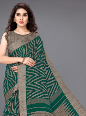 Cotton Green Classic Saree