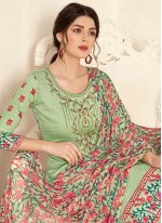Cotton Green Palazzo Designer Salwar Kameez