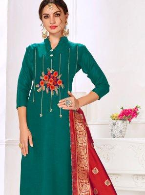 Cotton Green Salwar Kameez