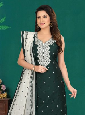 Cotton Green Salwar Suit