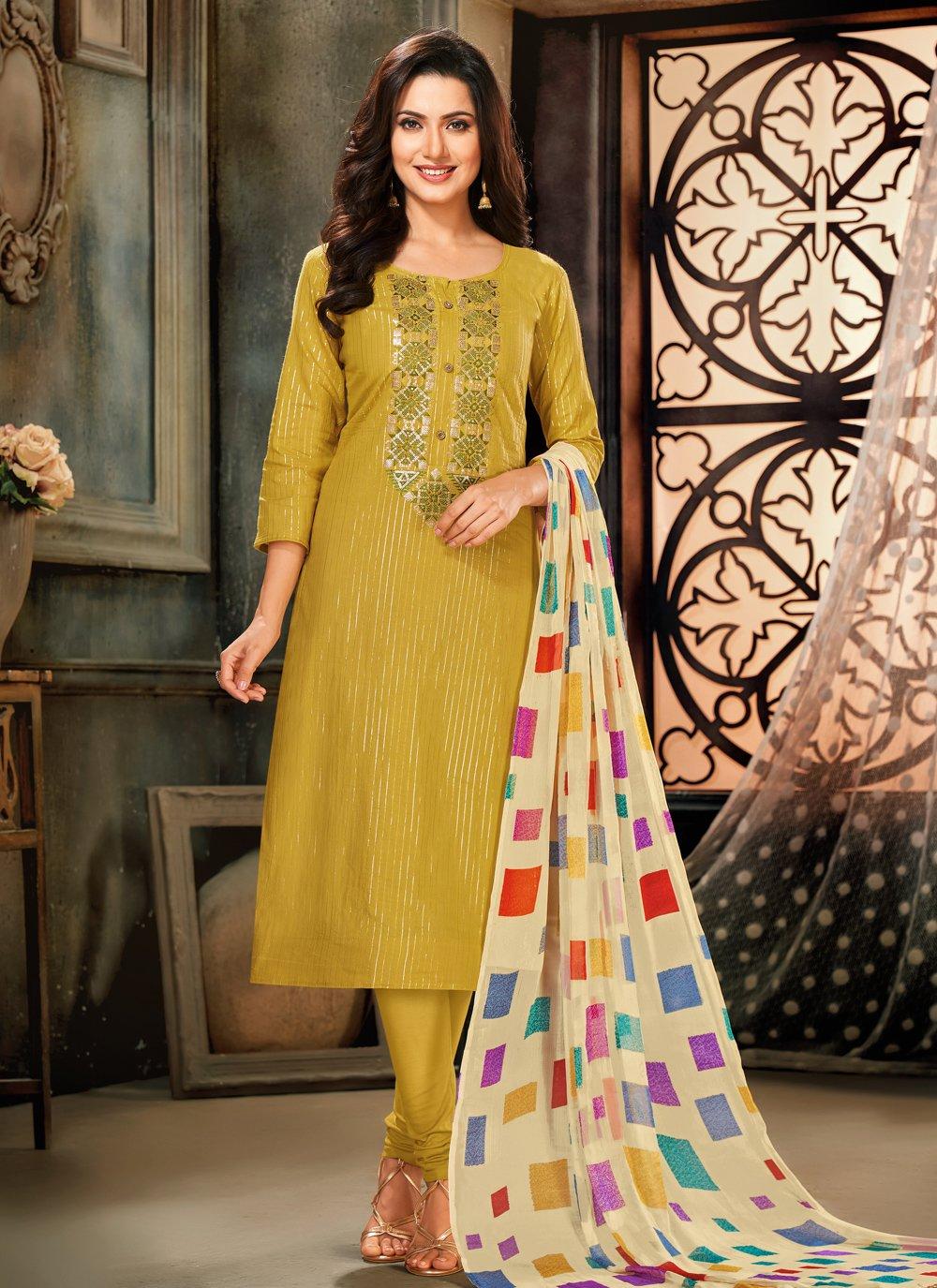 Cotton Green Trendy Salwar Suit
