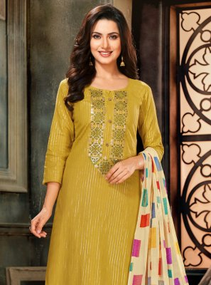 Cotton Green Trendy Salwar Suit