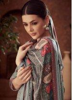 Cotton Grey Diamond Trendy Salwar Kameez