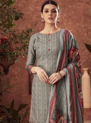 Cotton Grey Diamond Trendy Salwar Kameez