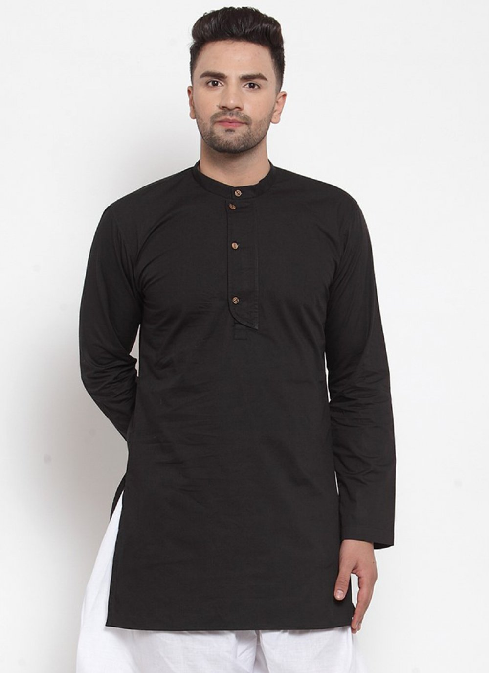 Cotton Kurta in Black
