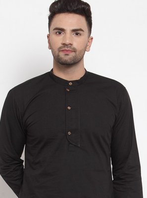 Cotton Kurta in Black