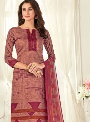 Cotton Multi Colour Digital Print Trendy Palazzo Salwar Kameez