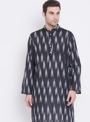 Cotton Multi Colour Print Kurta Pyjama