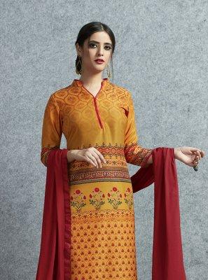 Cotton Multi Colour Print Salwar Suit