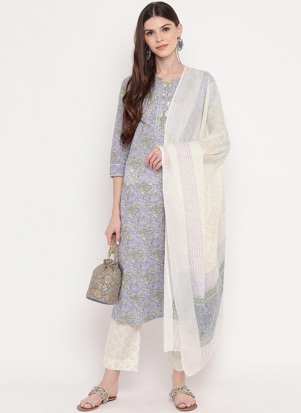 Cotton Multi Colour Salwar Suit