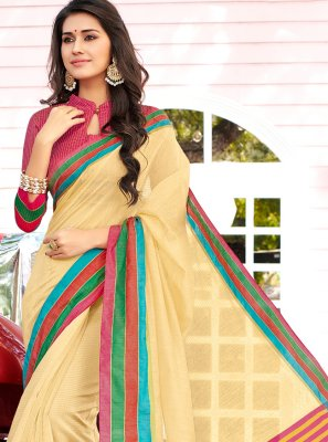 Cotton Multi Colour Weaving Trendy Saree