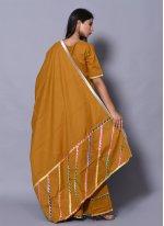 Cotton Mustard Block Print Salwar Suit