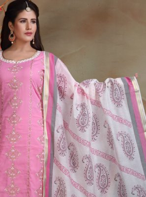 Cotton Pink Churidar Suit