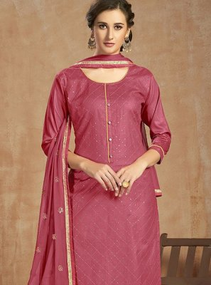 Cotton Pink Salwar Suit