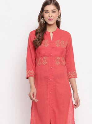 Cotton Plain Designer Kurti