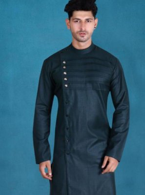 Cotton Plain Green Kurta