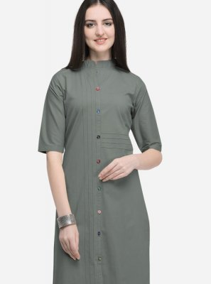Cotton Plain Party Wear Kurti