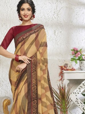 Cotton Print Designer Saree