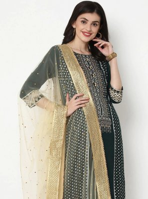 Cotton Print Green Bollywood Salwar Kameez