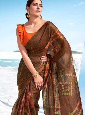 Cotton Printed Classic Saree