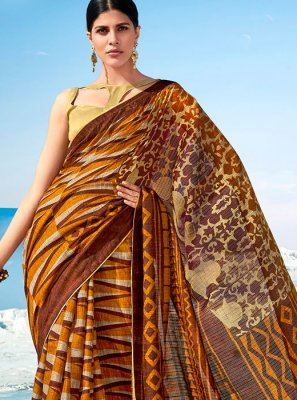 Cotton Printed Multi Colour Classic Saree